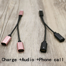 For iphone 8 7 7 plus Earphone Audio Charging Connecter Adapter Cable Support Phone Call For IOS 11 Music Calling/Charging