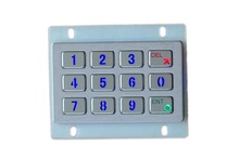 3*4 matrix industrial stainless steel 12 illuminated key button metal top panel numeric keypad with Led backlight,kiosk keyboard