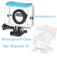 Action Camera Case for Xiaomi Yi Waterproof Case Mi Yi 40M Diving Camera Box with Anti-fog Inserts for Xiaomi Yi Accessories