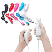 Remote Game Handle controller 100% Brand For Nunchuk Game Controller for Nintendo For Wii(China)