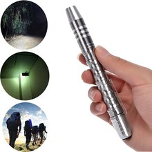 1Pc High Quality Tactical Focus Bright Compact Q5 LED 1200LM Lamp Flashlight Silver B7 VEM56 P0.11(China)