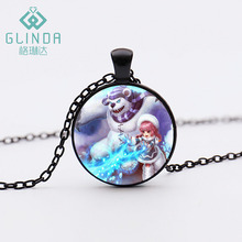Handmade LOL Annie The Dark Child Silver Plated Necklaces Annie All skins pendant League of Legend Pendants Black Jewelry(China)