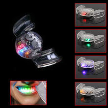 1Pc 4 Colors LED Flashing Light Flash Mouth Guard Piece Mouthpiece Mouthguard Party Decor Funny Supplies