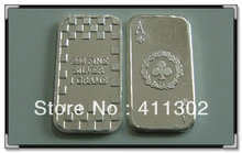 2013 New Design .999 pure solid silver 1gram Ace of Clubs Bullion Bars, souvenir coins 10pcs/lot,Free shipping(China)