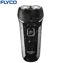 Flyco Professional Worldwide Voltage(100-240V) Razor Two independent floating heads Full Body washable Electric shaver FS873(China)