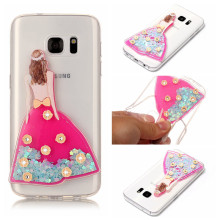 Luxury Fashion Wedding Dress Quicksand Liquid Soft Silicone Case For Samsung Galaxy S7 S8 Plus A3 A5 A7 J3 J5 J7 Phone Cover