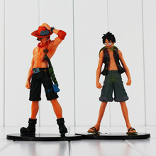 New style 2pcs/lot One Piece The Monkey.D.Luffy And Ace PVC Action Figure Toys Gifts