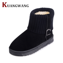 Fashion Women Winter Boots Suede Snow Ankle Boots Female Warm Winter Shoes Woman Round Toe platform Botas Mujer
