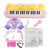 37 Key Multi-Function Keyboard Musical Instrument Microphone Early Childhood Educational Music Electronic Piano Toys(China)
