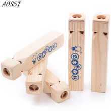 (AOSST) Interest Carpenter Environmental Protection Solid Wood Train Whistling Puzzle Music Toys Christmas Presents For Children(China)