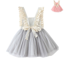 toddler baby Girls bling bling ruffle tulle dress,2-8y girls christmas princess dress girls autumn/winter clothing(China)