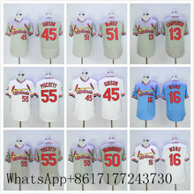13 Matt Carpenter 16 Kolten Wong 30 Orlando Cepeda 45 Bob Gibson #50 Adam Wainwright Jerseys white blue gray