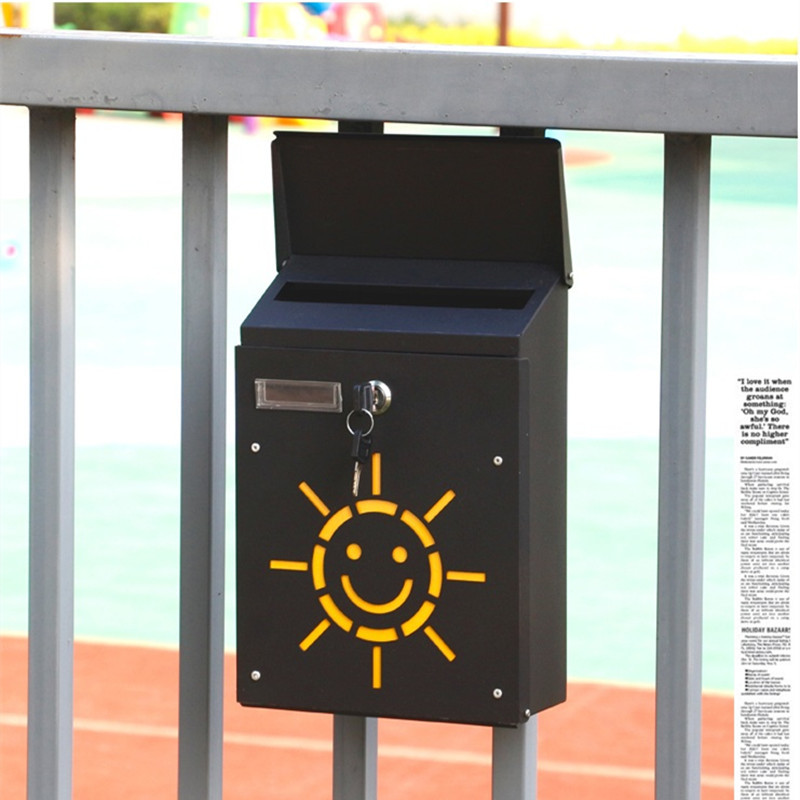 Lockable Smile Sunshine mailbox (8)