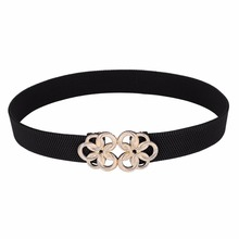 Designer belts women women ladies girls metal floral interlock 2017 stretchy elastic waist belt waistband belts for women