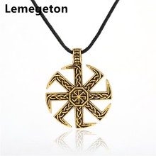 Buy Lemegeton Slavic Taislman Kolovrat Sun Wheel Amulet Symbol Pagan Mixed Size Charms Wax Cord Rope Chain Necklaces Jewelry Making for $3.24 in AliExpress store