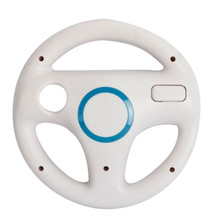 Hot White Plastic Steering Wheel For Nintendo for Wii Mario Kart Racing Games Remote Controller Console Free Shipping(China)