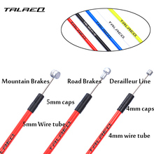 MTB Bike Brake Line Tube Kits 5mm Mountain Road Bicycle Brake Cable 4mm Shift Gear Derailleur kits Cycling Accessories PVC(China)