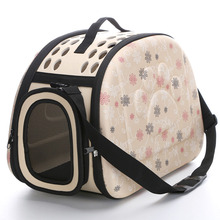 Pet Eva Dog Cat Travel Tote Handbag Folding Crate Cage Backpack Soft Carrier