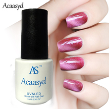 Acaasyd 24 Colors Magnetic Cat Eye Gel Nail Gel Polish Long-lasting UV Fingernail Gel Soak-off LED UV Color Gel Varnish 7ML