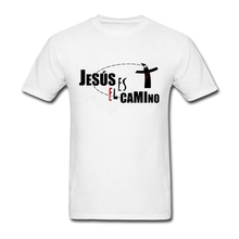 Jesus T Shirt Male Latest Simple Camisetas Loose T-Shirt Men's Short Sleeve O Neck Picture Teenboys Tee Jesus Father's Day gift(China)