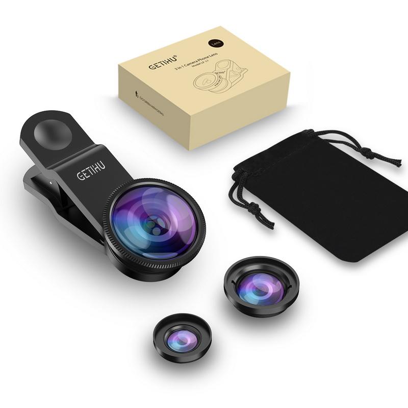 Universal Fisheye Lens 3 in 1 Mobile Phone Clip Lenses Fish Eye Wide Angle Macro Camera Lens for Smartphone iPhone 6 Microscope 7