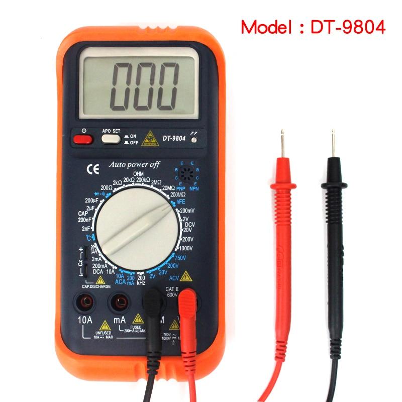 Genuine high efficiency multimeter voltage resistance frequency temperature two transistor transistor tester digital multimeter<br>