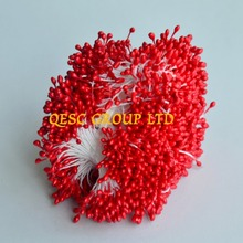 Red 5.5cm Double sided flower stamens for fascinator sinamay hat kentucky derby hat weding accessory.
