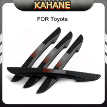 4X Car Styling Door Protector Door Side Edge Protection Guards Stickers Door Bumper Strips Carbon Fiber Anti-Rub For Toyota