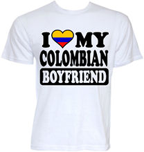 MENS FUNNY COOL NOVELTY COLOMBIAN BOYFRIEND COLOMBIA FLAG JOKE GIFTS T-SHIRTS O-Neck Fashion Casual High Quality Print T Shirt