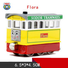 Thomas& Friends- Flora Bus Locomotive Diecast Metal Train Toys Toy Magnetic Models Toys For Kids Children Xmas Gifts(China)
