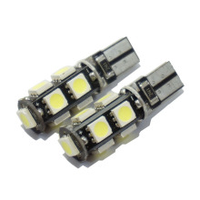 6pcs/lot T10 9 smd 5050 led Canbus Error Free Car Lights BULB W5W 194 9SMD LIGHT BULBS NO OBC ERROR White/Blue(China)
