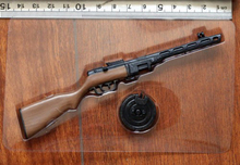 "1:6 Scale Toy Gun for Military Soldier Action Figure WWII PPSh41 Submachine Weapon Mode For 12"" Body Accessories"