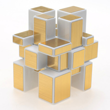 LeadingStar Square Mirror Blocks Silver Shiny Magic Cube Puzzle Brain Teaser IQ Kid Funny White Gold Toy zk25(China)