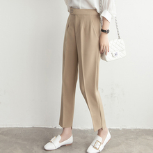 2017 Spring/Autumn Bottoms Women's Clothing OL Style Straight Pants Capri Women High Waist Angle-Length Pant Trousers Suit Brand