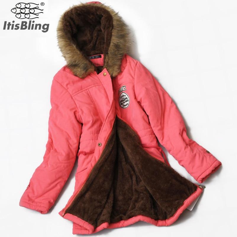 Super Deals Autumn Warm Winter Fur Collar Coats Jackets for Women 2017 Womens Long Down Parka Parka HoodiesОдежда и ак�е��уары<br><br><br>Aliexpress