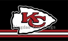 3x5ft Red White Line Kansas City Chiefs Flag with Grommets(China)