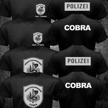 New EKO COBRA Austria Police Counter Terrorism Special Unit Forces T shirt Black Mens Harajuku Black Cotton Tee Shirt Plus Size