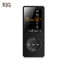"Hot IQQ X02 MP3 8GB Music play time 80 Hours lossless MP3 player 1.8"" TFT screen MP3 with speaker E-book FM radio voice recorder"