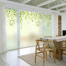 Spring Frosted Opaque Stained Glass Window Film Decorative Privacy Digital printing Static Cling-Custom Made(China)