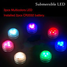 36PCS Home Garden Party Mini LED Light !! Fancy Factory Wholesale RGB MultiColors Color Waterproof Led Tealight Battery Operated