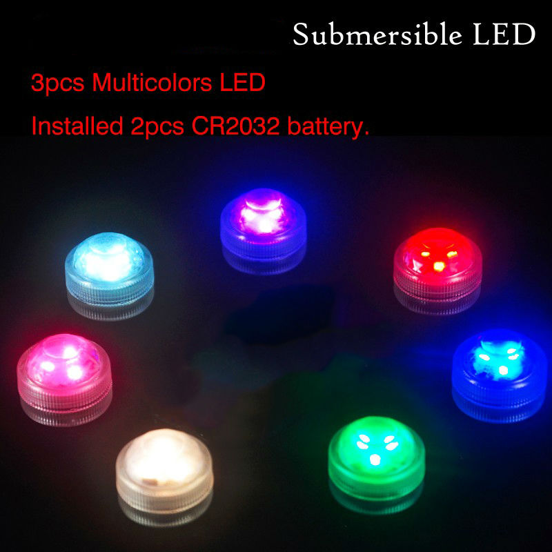 Home Garden Party Mini LED Light !! Fancy Factory Wholesale RGB MultiColors Color Waterproof Led Tealight Battery Operated(China (Mainland))