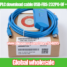 1pcs FATEK PLC download cable USB-FBS-232P0-9F + / PLC programming cable USB TO RS232 ADAPTER for FATEK FBS(China)