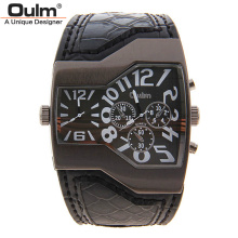 New Fashion Sport Watch Oulm Japan Double Movement Watch Men Square Dial Compass Function Military Cool Stylish Watches relojio