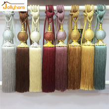 2pcs/Pair Curtain Hanging Ball &Tassel European Style Tieback Bedroom Livingroom Curtain Decoration 8 Colors(China)