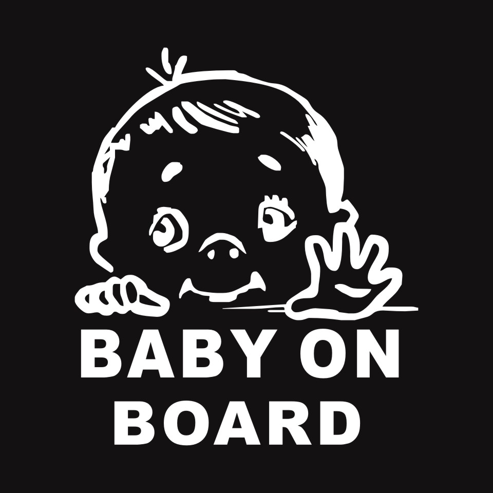 Cunymagos Lovely Child BABY ON BOARD Safety Sign Car Stickers And Decal Vinyl Car Styling Auto Motorcycle Stickers 13.115 (4)