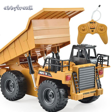 Abbyfrank RC Car Toy Car Remote Control Truck Tipper Alloy Multi-function Chargeable Car Remote Control Gifts Toy For Children(China)