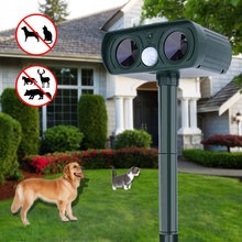 Portable Solar Power Ultrasonic Signals Animal Repeller Outdoor Bird Mouse Cat Expeller for Home Garden Courtyard(China)