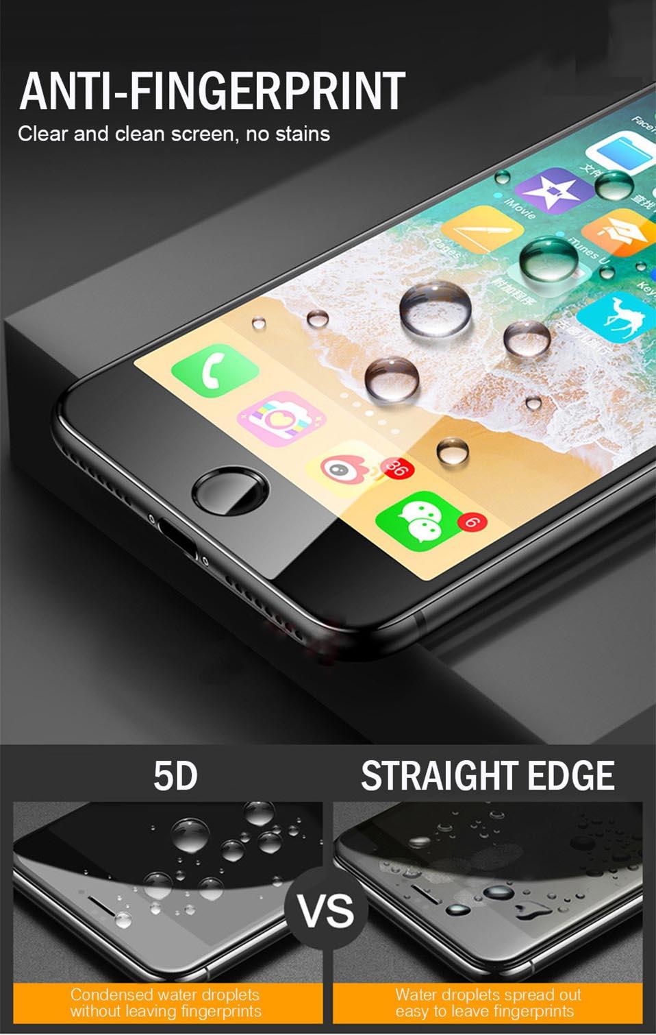 5D Glasses for iPhone 6 6s plus Glass Film Full Cover iphone6 Screen Protector for iPhone 6 6s 7 8 plus x Tempered Glass 3D 4D (2)