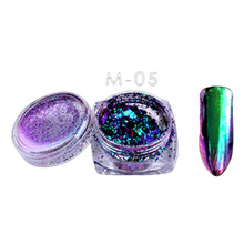 6Colors Powder Flakes Nail Bling Mirror Shimmer Powder Nail Art Glitter Decora paillettes pour ongles nails dip powder mirror(China)