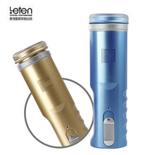 Buy LETEN Electric Male Masturbators Piston Retractable 30 Frequency Pocket Silicone Pussy Artificial Vagina Adult Sex Toy Men